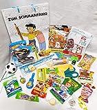 Geschenktasche Schulanfang gefüllt für Jungs mit Hot Cars & Wheels Auto Blindbag