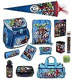 Familando Avengers Schulranzen-Set 16tlg Scooli Campus Fit mit Sporttasche Federmappe gefüllt Schultüte 85cm und Regenschutz