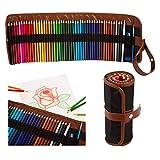 Aquarell Buntstifte Set - 48 neue strahlende Farben - mit praktischer Rollmappe